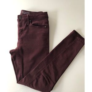Maroon Colored High Rise Skinny Pants